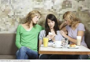 women comforting friend