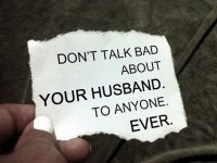 don't talk bad about your husband