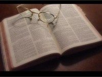 small bible glasses study