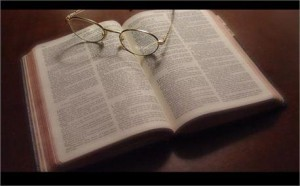 small bible glasses study