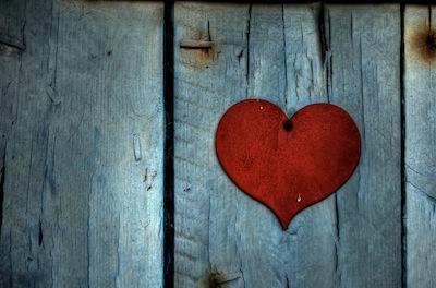 heart on fence love