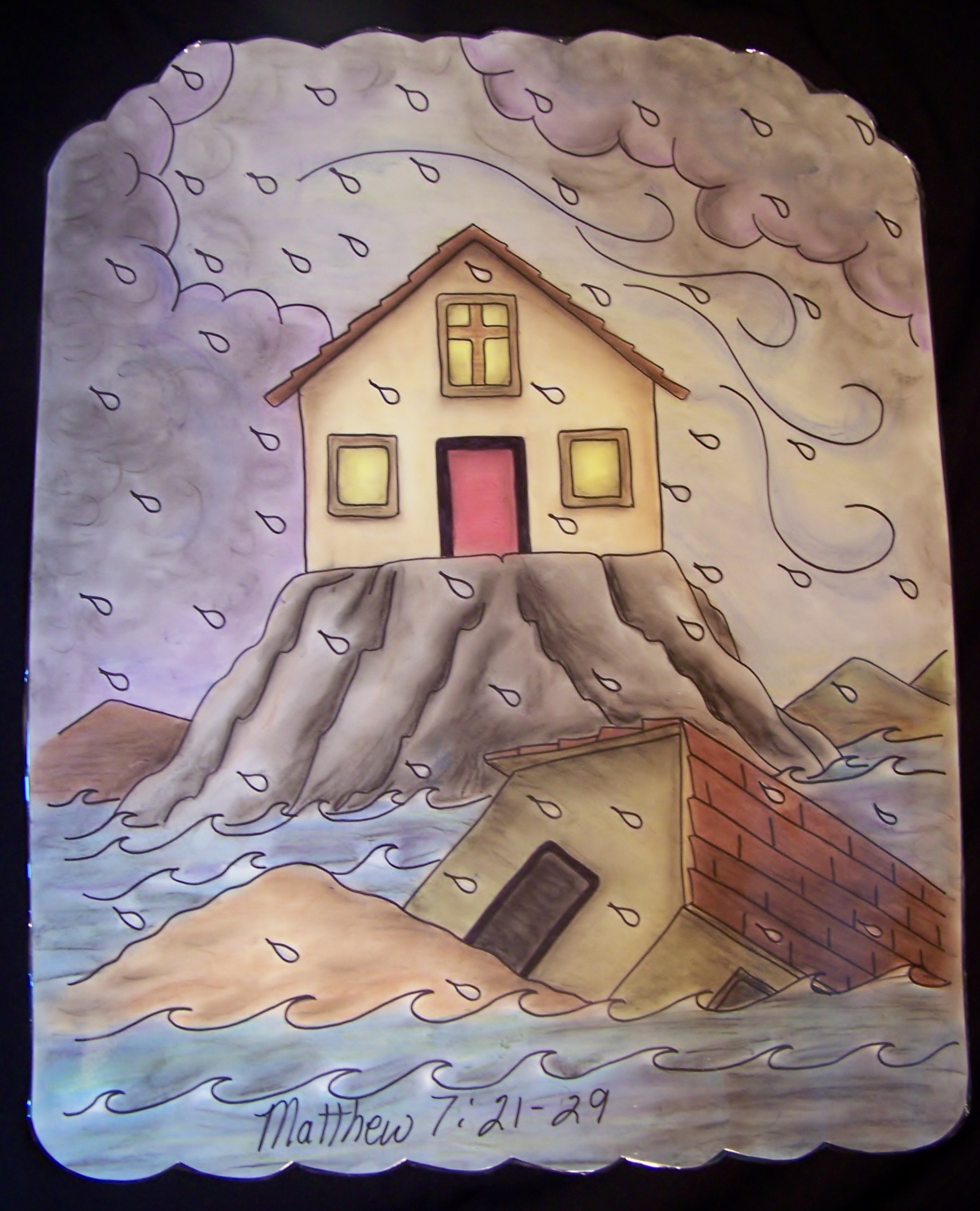 Wise man built his house upon the rock sermon - He Said Whoever Listens To What I Say And Obeys My Words Will Be Like The Wise Man Who Built His House On The Rock When The Rains Came Down And The