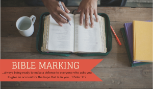 Bible Marking: In Remembrance of Me