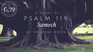 Psalm 119: Samech